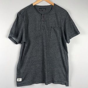 Five Four Gray Henley Shirt
